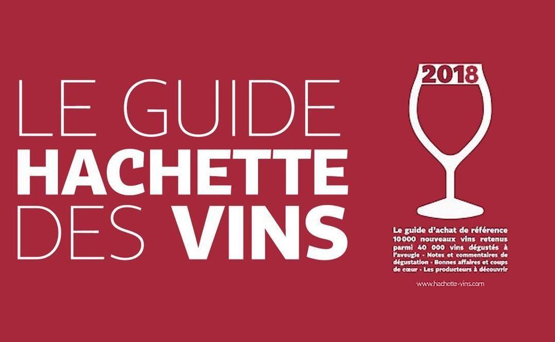 我们的酒获得了2018年阿歇特葡萄酒指南的推荐